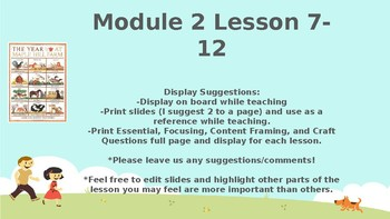 Wit and Wisdom, Grade K, Module 2, Lessons 7-12