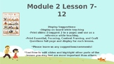Wit and Wisdom, Kindergarten, Module 2, Lessons 7-12