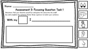Wit and Wisdom Kindergarten Assessment 5: Focusing Task 1