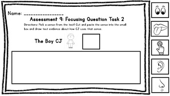 Wit and Wisdom Kindergarten Assessment 9: Focusing Question Task 2