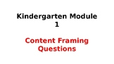 Wit and Wisdom Kindergarten Content Framing Questions