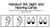 Wit and Wisdom Kindergarten Handout 13A: Hearing and Sight Cards