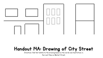Wit and Wisdom Kindergarten Handout 14A: Drawing of City Street