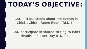 Wit and Wisdom Kindergarten Module 1 L17-22 Chicka Chicka Boom Boom BUNDLE