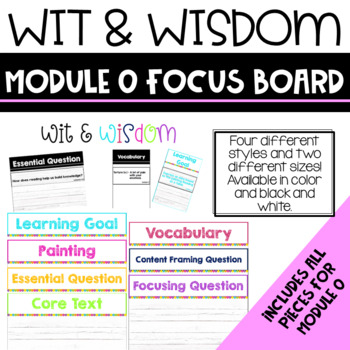 Wit and Wisdom Module 0 Focus Wall