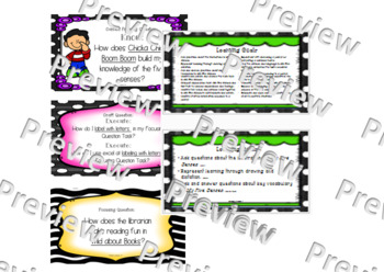 Wit and Wisdom: Module 0 Questions K-2 color pop and clip art
