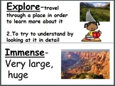 Wit and Wisdom Module 1 Grade 3 Word Wall (editable)
