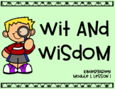 Wit and Wisdom Module 1, Lesson 1