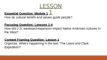 Wit and Wisdom Module 1 Lessons 1-4