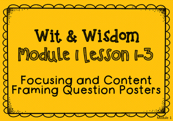 Wit and Wisdom Module 1 Preview Question Posters