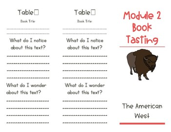 Wit and Wisdom Module 2 Book Tasting Trifold