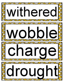 Wit and Wisdom Module 2 Grade 2 Vocabulary Word Wall