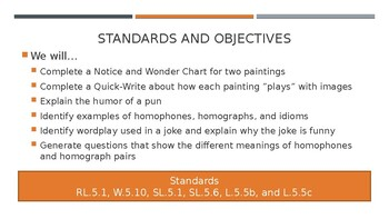 Wit and Wisdom Module 2 Lesson 1 PowerPoint - Grade 5