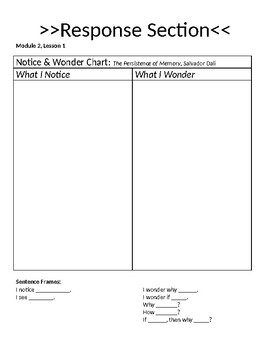 Wit and Wisdom Module 2 Lessons 1-4 Journal
