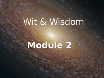 Wit and Wisdom, Module 2, Third Grade Focus Wall