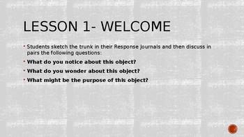 Wit and Wisdom, Module 3, Lesson 1