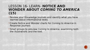 Wit and Wisdom, Module 3, Lessons 16-24