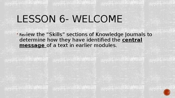 Wit and Wisdom, Module 3, Lessons 6-15