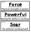 Wit and Wisdom Module 3 Vocab Grade 1