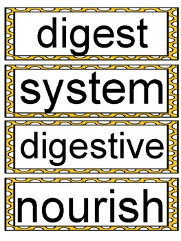 Wit and Wisdom Module 4 Grade 2 Vocabulary Word Wall