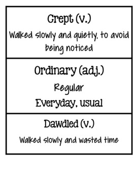 Wit and Wisdom Module 4 Vocabulary Cards Third Grade