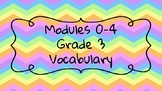 Wit and Wisdom Modules 0-4 Grade 3 Vocabulary BUNDLE