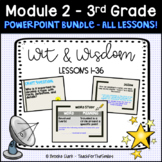 Wit and Wisdom PowerPoint Guide Bundle All Module 2 Lessons Third Grade