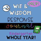 Wit and Wisdom Response Journal Kindergarten All Year BUNDLE!