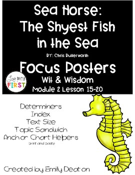 Wit and Wisdom Sea Horse: The Shyest Fish in the Sea  Focus Posters
