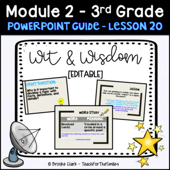 Wit and Wisdom Third Grade Module 2 Lesson 20 PP Guide