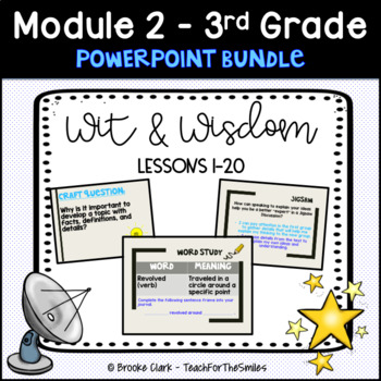 Wit and Wisdom Third Grade Module 2 Lessons 1-20 PP Bundle