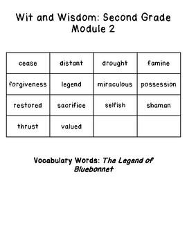 Wit and Wisdom Vocabulary 2nd Grade Module 2