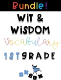 Wit and Wisdom Vocabulary BUNDLE First Grade!