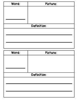 Wit and Wisdom Vocabulary Journal