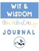 Wit and Wisdom Vocabulary Journal