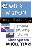 Wit and Wisdom Vocabulary for Word Wall- Kindergarten All