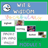 Wit and Wisdom Vocabulary for Word Wall- Kindergarten Module 1