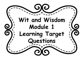 Wit and Wisdom Yearlong Bundle of Learning Target Posters