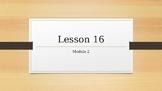 Wit & wisdom lessons 16 - 19 module 2 grade 2