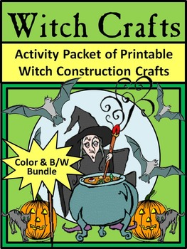 Witch Activities: Witch Crafts Halloween Activity Packet