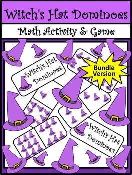 Witch Activities: Witch's Hat Dominoes Halloween Game Acti