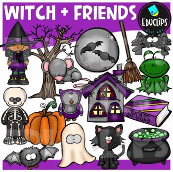 Witch And Friends Clip Art Bundle {Educlips Clipart}