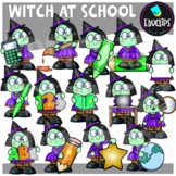 Witch At School Clip Art Set {Educlips Clipart}