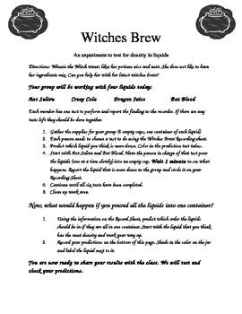 Witch Brew- Halloween Science Fun