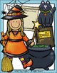 Witch and Cauldron Halloween Clip Art Set - Chirp Graphics