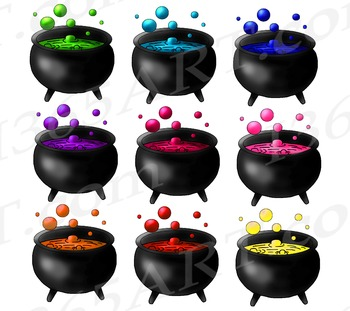 Witch Cauldron Halloween Clipart, Party Invitations, Halloween Clip Art