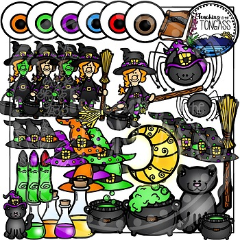 Witch Clipart (Halloween Clipart)