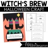Halloween Craft Witch Legs Craftivity