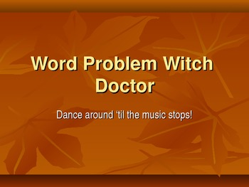 Witch Doctor Word Problems