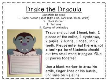 Witch, Dracula, & Frankenstein {3 Halloween Writing Craftivities}